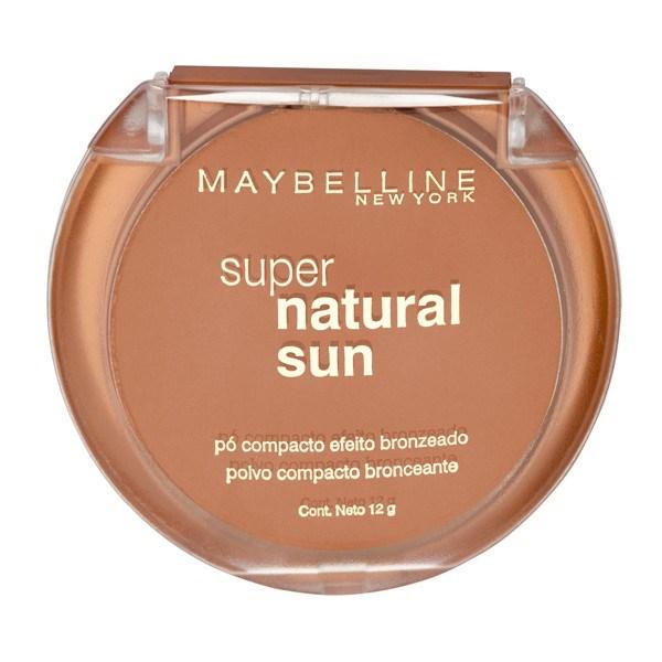 Polvo Compacto Maybelline Super Natural Sun 22 True Sun X 12 Gr