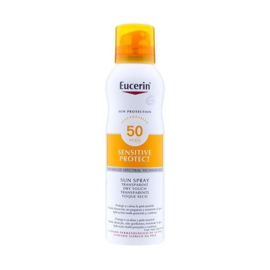 Eucerin Sun Spray Corporal Toque Seco FPS 50+ x 200 ml