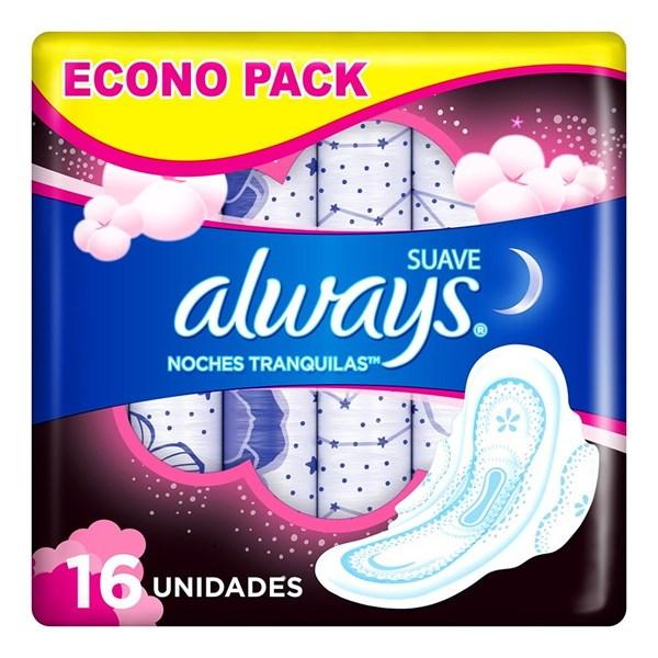 Toallitas Higienicas Always Noctur Maxi Prot Suav X 16 Unidades