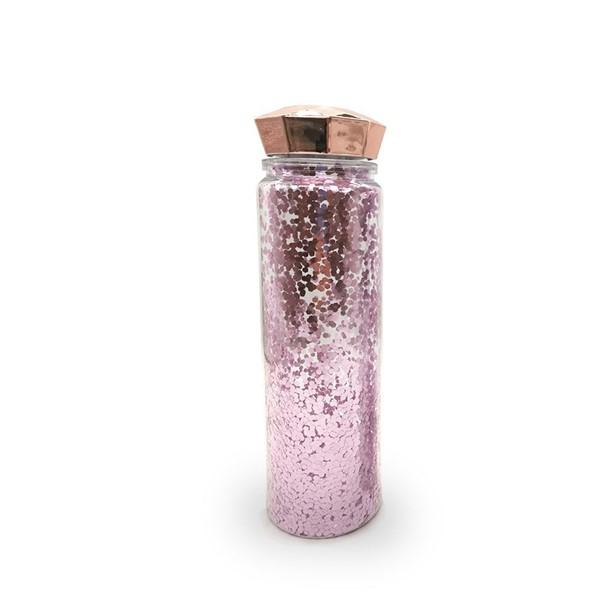 Botella Con Glitter Y Tapa Diamante  alt