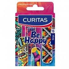 Curitas Apositos Adhesivos Curitas Be Happy x16 unidades