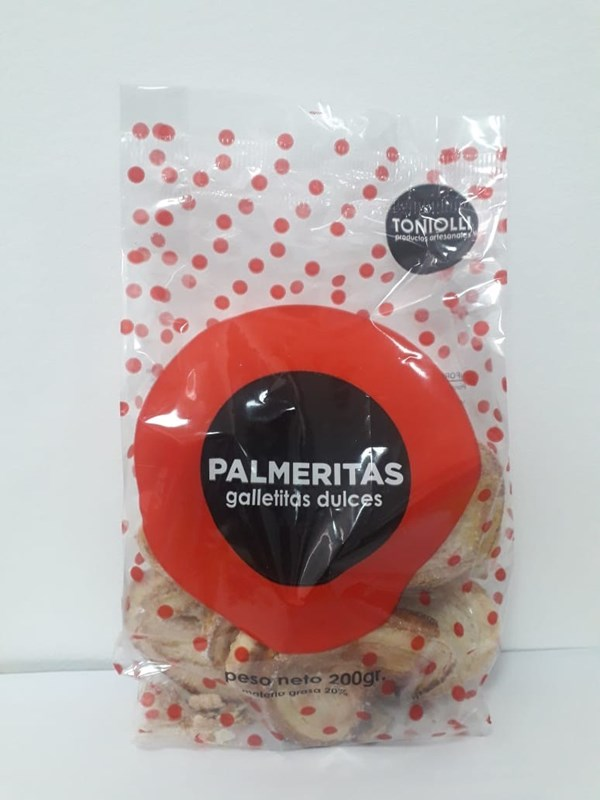 GALLETITAS TONIOLLI PALMERITAS x 200 GRS
