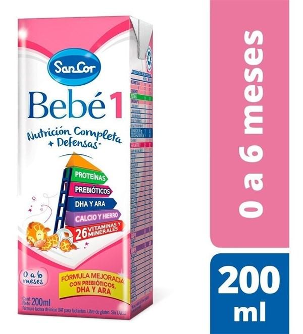 SanCor Bebé 1 Brick de 0 a 6 meses x 200 ml