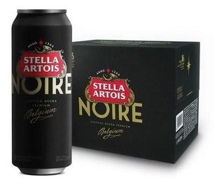 STELLA ARTOIS NOIRE LATA SIX PACK x 6 X 473 CC