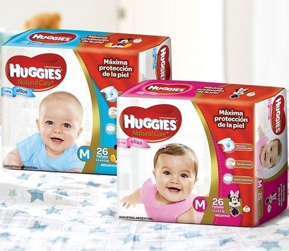 Huggies Natural Care Ellas-Ellos Mediano 1 paquete x 26 un.