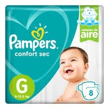 Pampers Confort Sec Regular G x8