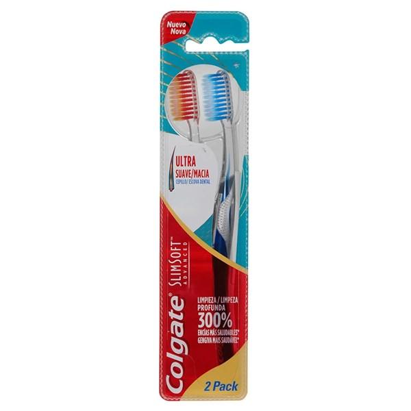 Cepillo Colgate Slim Soft Advanced 2x1