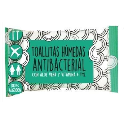 Toallitas Húmedas Antibacteriales Con Aloe Vera x8u
