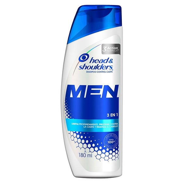 Shampoo Head & Shoulders 3en1 Para Hombres X 180 Ml alt