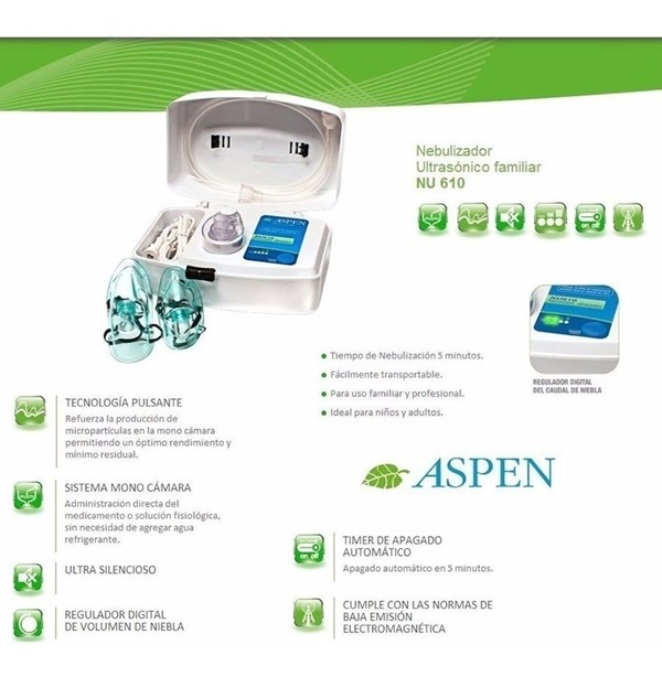 ASPEN nebulizador ultrasonico digital con timer  alt