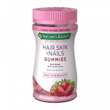 Nature's Bounty, Soluciones óptimas, Cabello, Piel y uñas x 40 gum