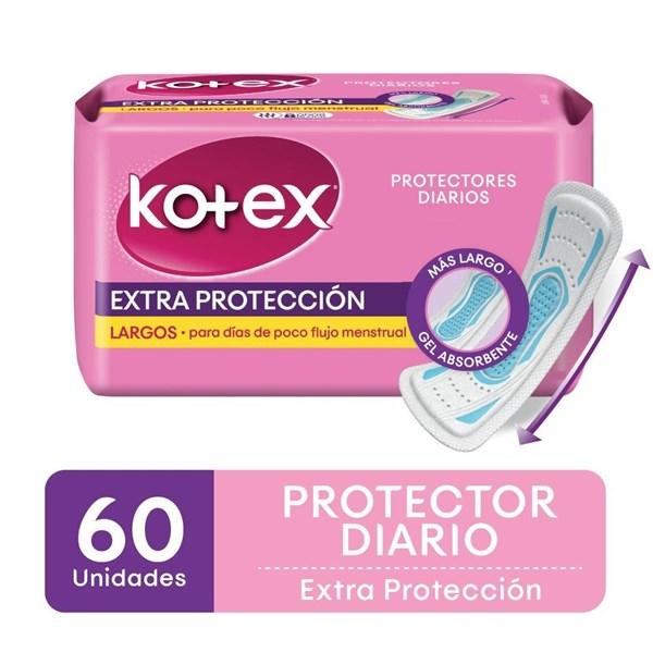 Kotex Protector Diario Largo S/p X 60
