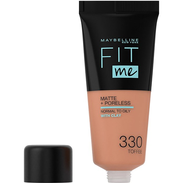 Base de maquillaje Maybelline Fit Me Suave y Natural 330 Medium Buff  X 30 Ml alt
