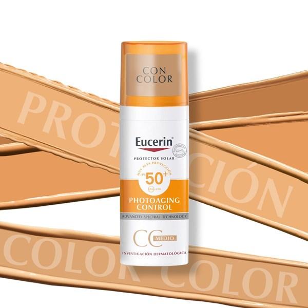 Protector Solar Facial Sun CC Creme Tono Medio FPS 50+  Eucerin alt