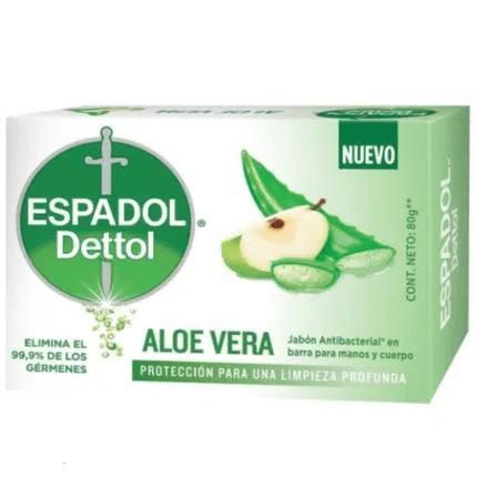 Espadol Dettol Jabón de tocador ALOE VERA 80gr