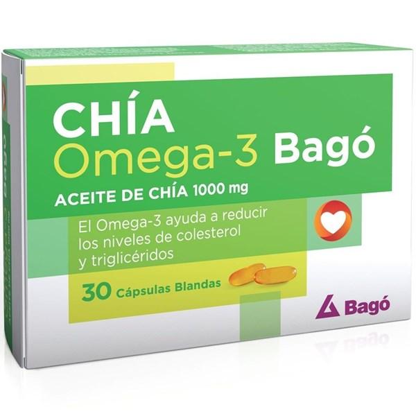 Suplemento Chía Omega 3 1000mg 30 Cápsulas
