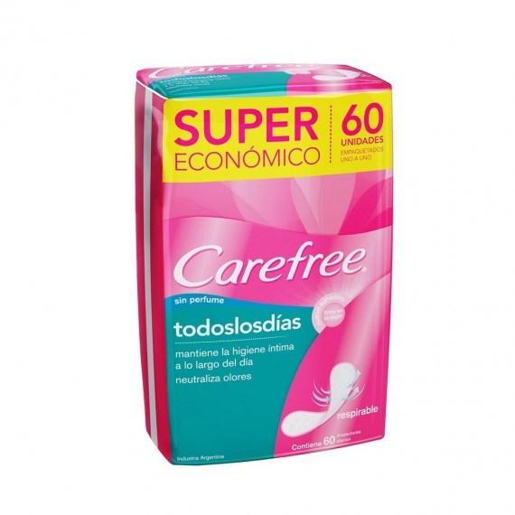 Carefree Protectores Diarios Todos Los Días x60 un #1
