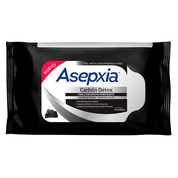 Asepxia Toallitas Carbón X 10 Unidades