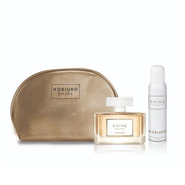 Necessaire Perfume Kosiuko Shine EDP 100ml + Desodorante 127ml