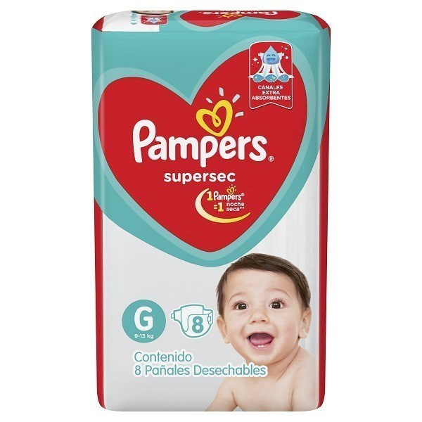 Pack Pañales Pampers Supersec  X 16 (paquetes)