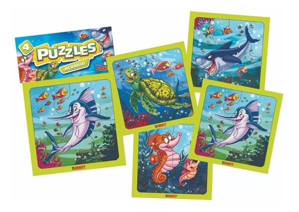 Puzzle Animales Marinos x4 Piezas Duravit