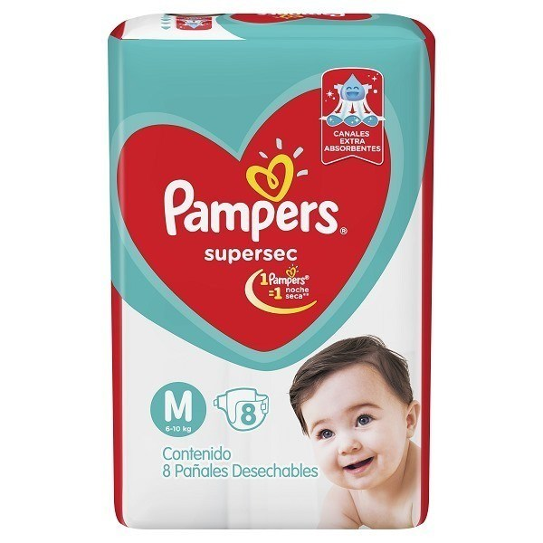 Pack Pañales Pampers Supersec  X 16 (paquetes) alt