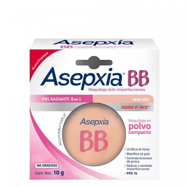 Asepxia Maquillaje Antiacnil Beige Mate Polvo  alt