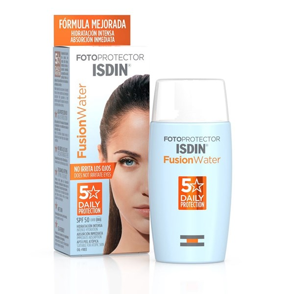 Isdin Crema Fotoprotector Fusion Water 50+ 5 Stars X 50 Ml