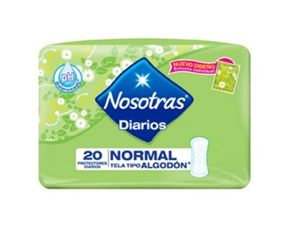 Nosotras Protectores Diarios 20un 2x1 Normal Tela Tipo Algodón