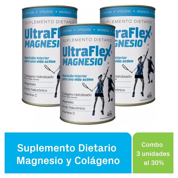 Ultraflex Magnesio Lata X420g PACK X 3 UNIDADES
