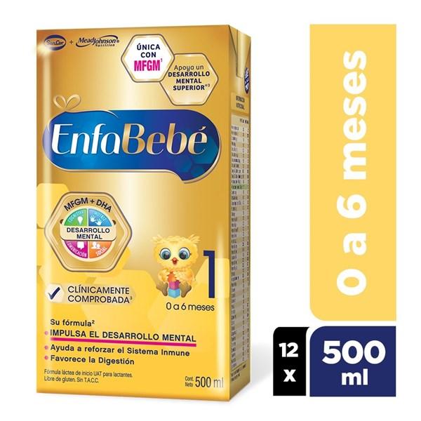EnfaBebé 1 Brik Libre de Gluten de 0 a 6 meses x 500ml por 12 unidades