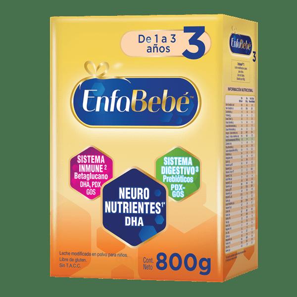 Leche Infantil Polvo Enfabebé Etapa 3 X 800 Gr