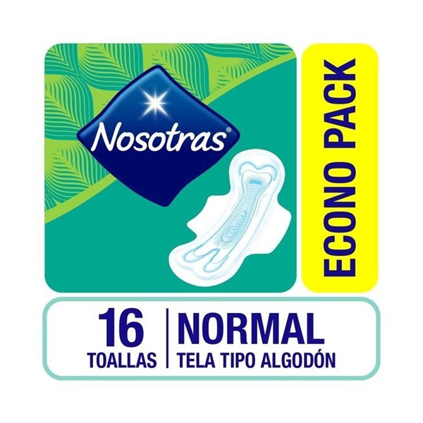 Toallas Femeninas Nosotras Normal X 16 Unidades