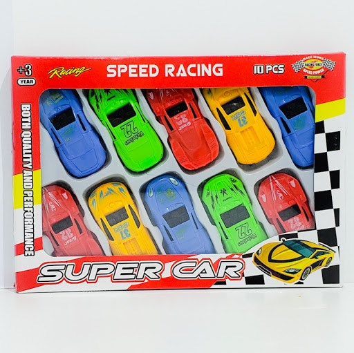 Autitos Juguete x10 Super Car Speed Racing