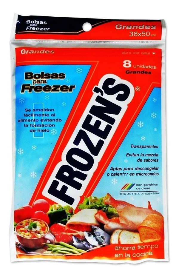BOLSA P/FREEZER FROZEN'S GRANDE x 36 X 50 CMS