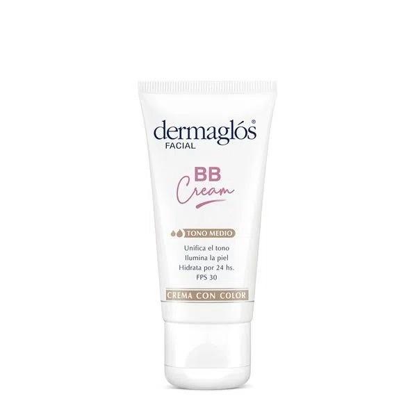 Dermaglós Crema Facial BB Cream Fps 50 Tono Medio x 50 g