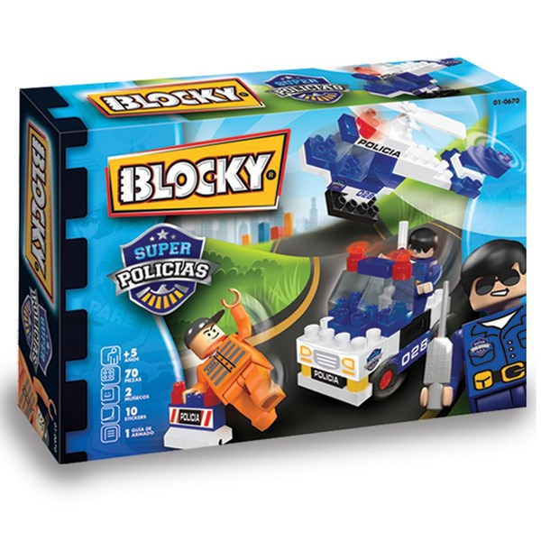 Bloques Super Policía Juguete Blocky
