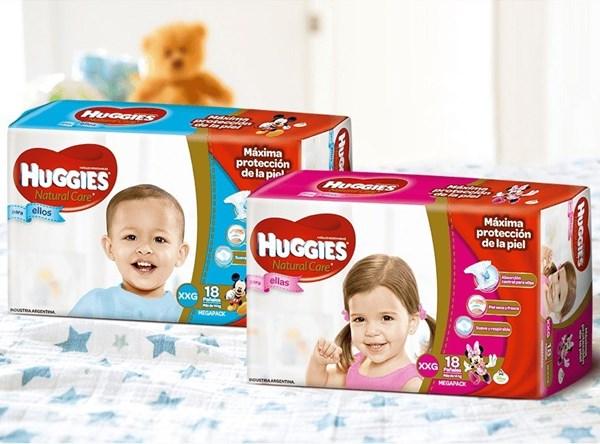 Huggies Natural Care Ellas y Ellos XXG Oferta x 2 paquetes de 17u