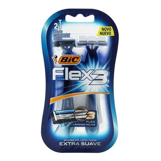 Bic Flex 3 desacartable x 2