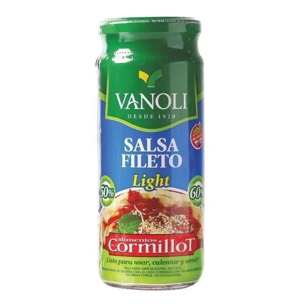 SALSA VANOLI FILETTO LIGHT x 360 GRS
