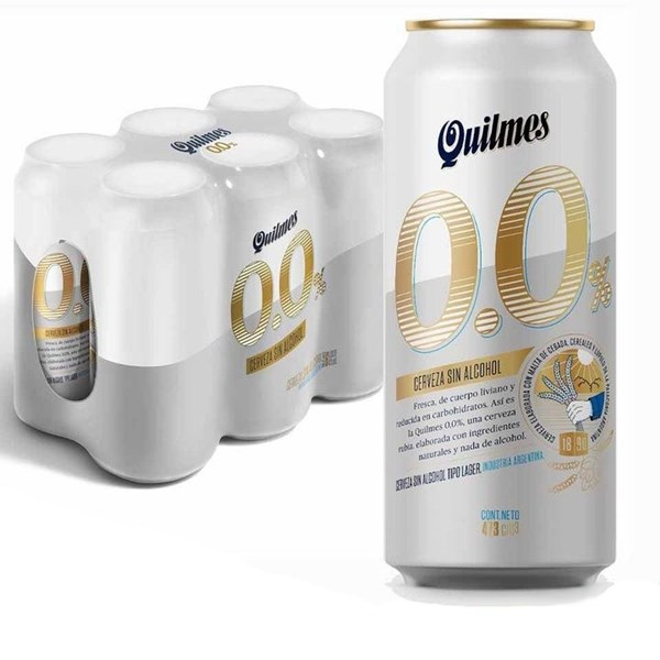 QUILMES LATA  S/ALCOHOL SIX PACK x 500 CC