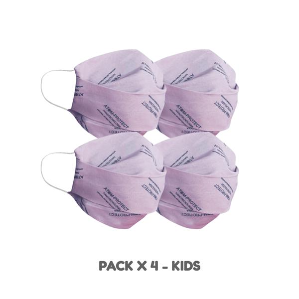 Combo Tapaboca Atom Protect Kids X 4 Unidades