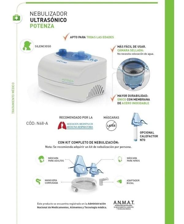 Nebulizador Ultrasonico Silfab Potenza N68 Camara Sellada alt