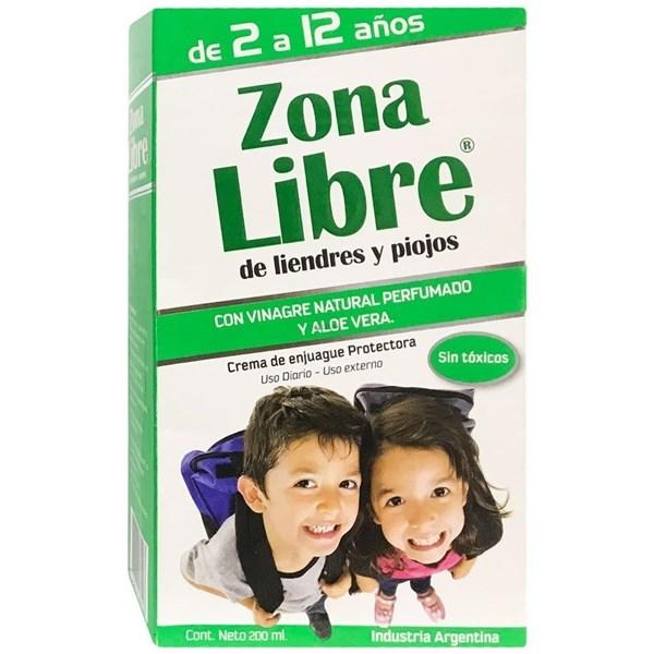 Zona Libre de Liendres y Piojos Crema de Enjuague x 200ml