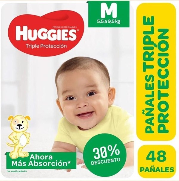 Huggies Classic Triple Protección Talle Mediano Pack x 48 Pañales