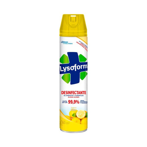 Lysoform Desinfectante Aerosol Fragancia Cítrica 360ml