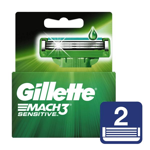 Gillette Mach3 Sensitive Cartuchos Repuesto De Afeitar