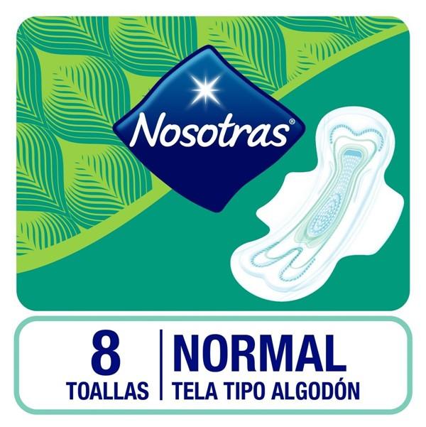 Toallas Femeninas Nosotras Natural Plus X 8 Unidades