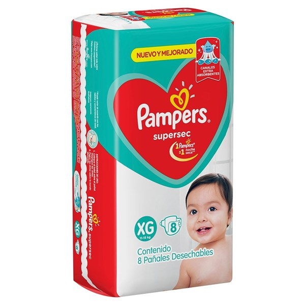 Pañales Pampers Supersec XG X 8 Unidades alt