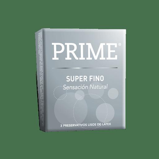 Preservativos Prime Super Fino X 3 Unidades